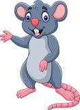El agitar feliz del ratón de la historieta ilustración del vector