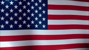 El agitar lento de la bandera americana Ciérrese para arriba de agitar de la bandera americana ilustración del vector