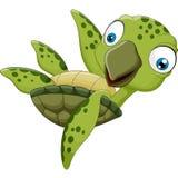 El agitar lindo de la tortuga de la historieta Imagen de archivo libre de regalías