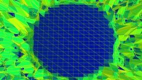 El agitar polivinílico bajo verde del fondo Superficie polivinílica baja abstracta como fondo simple en diseño polivinílico bajo  almacen de video
