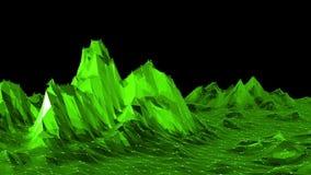 El agitar polivinílico bajo verde del fondo Superficie polivinílica baja abstracta como malla cristalina en diseño polivinílico b almacen de metraje de vídeo
