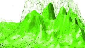 El agitar polivinílico bajo verde del fondo Superficie polivinílica baja abstracta como paisaje ffantastic en diseño polivinílico ilustración del vector