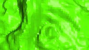 El agitar polivinílico bajo verde del fondo Superficie polivinílica baja abstracta como paisaje o estructura geométrica en polivi libre illustration
