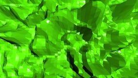El agitar polivinílico bajo verde del fondo Superficie polivinílica baja abstracta como paysage o videojuego en diseño poliviníli stock de ilustración