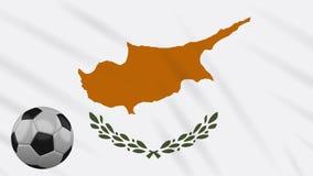 El agitar y el fútbol de la bandera de Chipre gira, lazo stock de ilustración