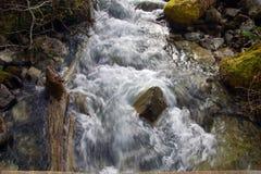 El agua blanca se estrella abajo del valle Foto de archivo libre de regalías