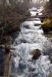 El agua blanca se estrella abajo del valle Imagen de archivo libre de regalías
