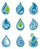 El agua cae iconos Imagen de archivo libre de regalías