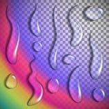 El agua cae transparente Imagen de archivo