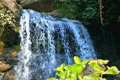 El agua del brahmani de la colina de Ajodhya cae por una mañana del verano en el purulia Bengala Occidental fotografía de archivo