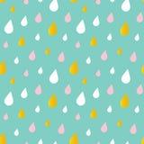 El agua linda cae, fondo inconsútil del modelo de la lluvia Fotos de archivo libres de regalías