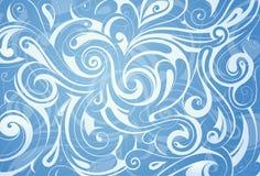 El agua remolina ornamento ilustración del vector