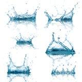 El agua salpica la colección fotos de archivo libres de regalías
