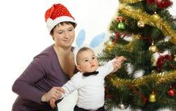 El aguardar para Papá Noel Imagen de archivo libre de regalías
