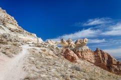 El agujero grande en la roca de Cappadocia Fotografía de archivo libre de regalías