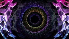 El agujero inconsútil de la animación del extracto del lazo de la luz colorida illusionary representa la mente subconsciente, tra libre illustration