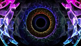 El agujero inconsútil de la animación del extracto del lazo de la luz colorida illusionary representa la mente subconsciente, tra