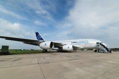 El Airbus A380 Imagenes de archivo