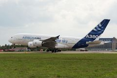 El Airbus A380 Imagen de archivo