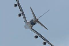 El Airbus A380 Imágenes de archivo libres de regalías