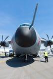 El Airbus A400M Atlas es un avión cuadrimotor multinacional del transporte de los militares del turbopropulsor Imagen de archivo libre de regalías