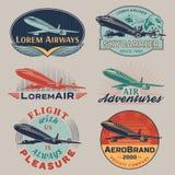 El aire badges color Foto de archivo