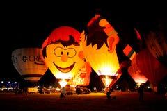 El aire caliente de Ferrara hincha el festival 2008 Imagen de archivo libre de regalías