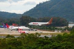 El aire de Malindo llega el aeropuerto fotografía de archivo libre de regalías