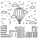 El aire dirigible y caliente hincha el dirigible Imagenes de archivo