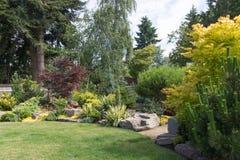 El ajardinar del patio trasero Imagen de archivo libre de regalías