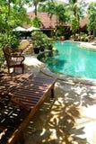 El ajardinar tropical del centro turístico Imagen de archivo