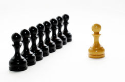 El ajedrez calcula a obispos Imágenes de archivo libres de regalías