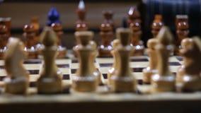 El ajedrez, movimiento del empeño almacen de metraje de vídeo