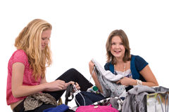 El ajustar de la ropa Imagen de archivo libre de regalías