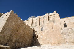 El-Aksah mosque and western wall Stock Photography