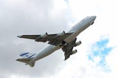 El Al Boeing 747-400 Royaltyfria Foton