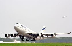 El Al Boeing 747 Royalty Free Stock Photography