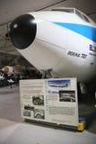 El Al Boeing 707 på skärm Arkivbild