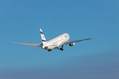 El Al Boeing 767 passenger plane Stock Photography