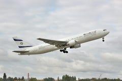El Al Boeing 767 passenger plane Stock Images