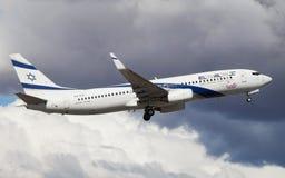 EL Al Israel Airlines Boeing 737 Imagem de Stock
