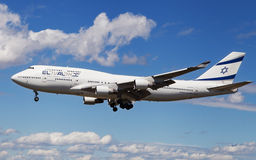 EL AL Israel Airlines Boeing 747 landing Stock Photos