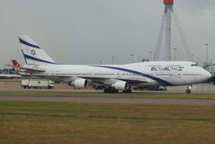 El Al Israel Airlines Jumbo Royalty Free Stock Photo