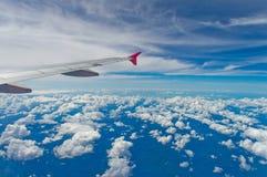 El ala del aeroplano Imagen de archivo