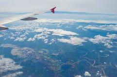 El ala del aeroplano Fotos de archivo