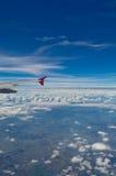 El ala del aeroplano Foto de archivo libre de regalías