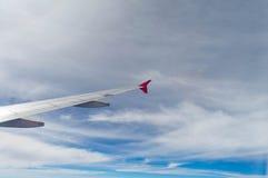 El ala del aeroplano Imagenes de archivo