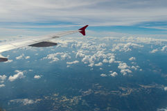 El ala del aeroplano Foto de archivo