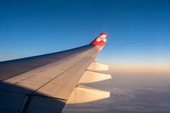 El ala del avión fotos de archivo
