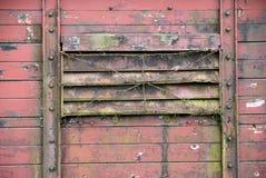 El alambre de púas cubrió la ventana Imagen de archivo